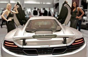 Miami Promotional Models Unveil The McLaren Showroom at The Collection