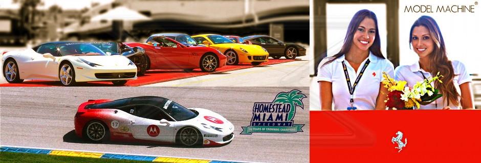 Hot and Fast – Bilingual Spokesmodels Spice up Ferrari Challenge 2012