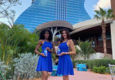 Event models in Miami keeping guests hydrated with FIJI Water