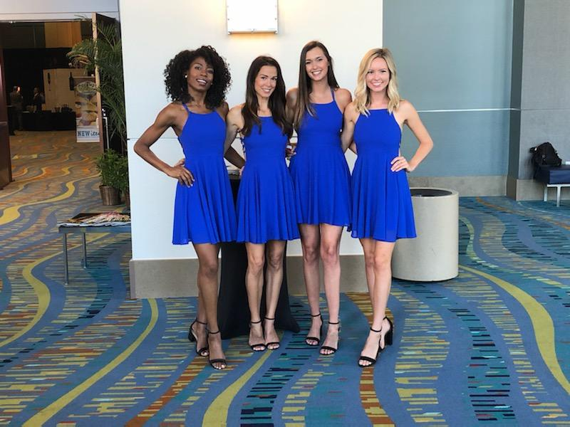 Spokesmodels for FIJI Water and JUSTIN Wine at Wine Spectator's Palm Beach Food & Wine Festival