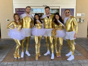 Experiential Model Superheroes with #BrooksGoldChamps at GateRiverRun